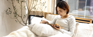 東京店スタッフより快適に過ごせる寝室コーディネートをご提案。