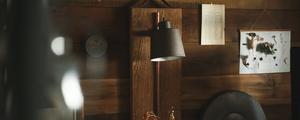 アルミ製の照明をヴィンテージ感漂う木製の照明にリメイク!