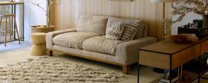 NOANA・folkソファーに新しいカバーを!リネン100%のソファーカバーを試作しました。