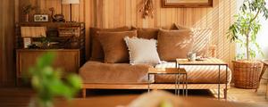 【動画】コーディネートレッスン9|ブラウンカラーのソファーでつくるナチュラルヴィンテージなリビングコーディネート